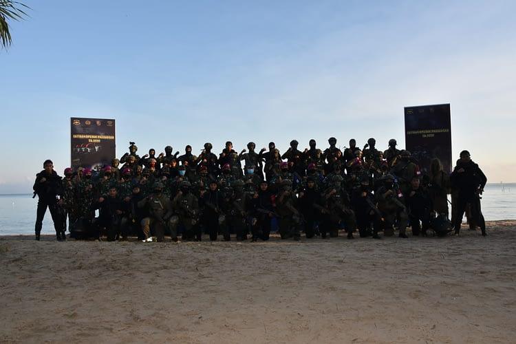 Stabo Pasukan Taifib Dan Kopaska Menjadi Puncak  Latihan  Opsduk Pasusgab TNI AL TA 2020
