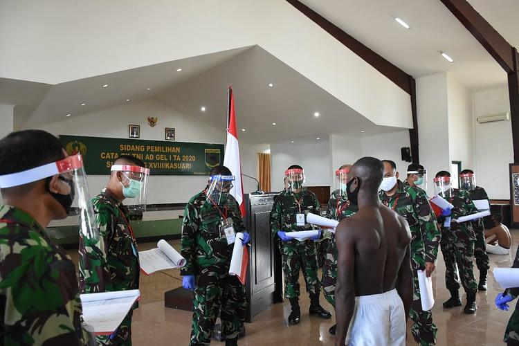 Sidang Pemilihan Cata PK TNI AD Gel. I TA 2020 Subpanpus XVIII/Kasuari Digelar