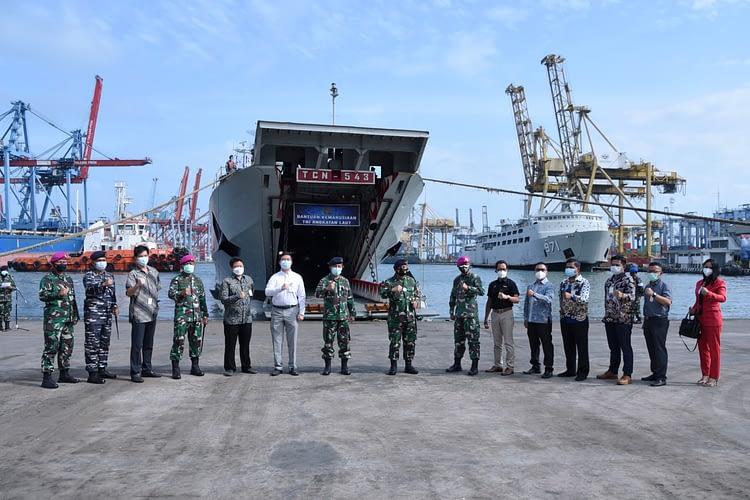 "Danpasmar 1 Mengikuti Acara Pelepasan Bantuan ""TNI AL Peduli Mamuju"""