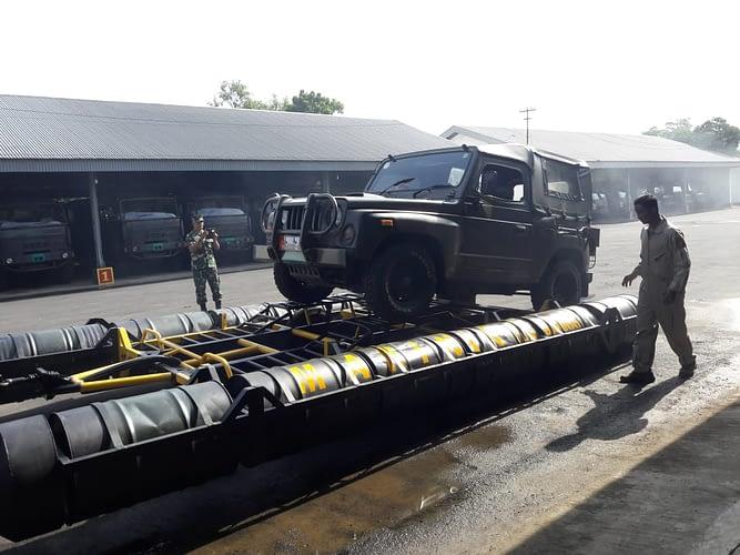 Danmenbanpur 2 Mar Buka Pelatihan Drill Ponton Improvisasi
