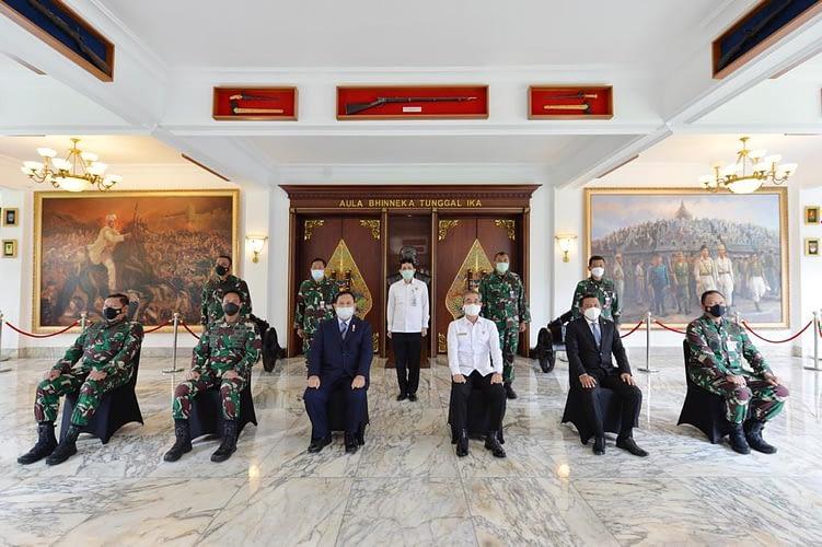 Kasau Hadiri Acara Entry Meeting Laporan Keuangan Kemhan dan TNI Tahun 2020 pada BPK RI