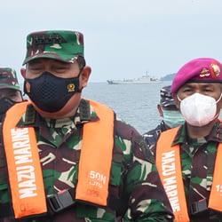 Dankormar dampingi Kasal Berikan Semangat Moril Prajurit SAR Sriwijaya