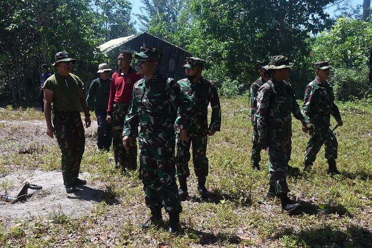 Wadan Pasmar 1 Cek Kesiapan Lokasi Latpasrat dan Pengangkatan Kasal Sebagai Warga Kehormatan Korps Marinir