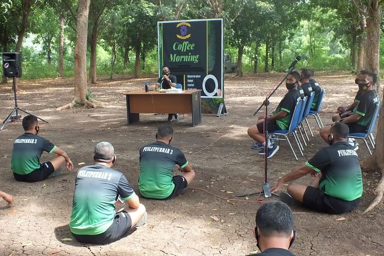 Jam Komandan Puslatpurmar 3 Grati, Tegaskan Loyalitas Prajurit Korps Marinir Tegak Lurus ke Atas