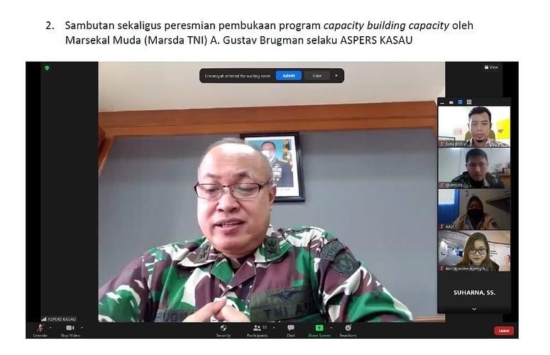 Bekerjasama dengan British Council, TNI AU melaksanakan Pelatihan  General English Self Access