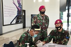 Marinir Wilayah Jakarta Kembali Laksanakan Rapid Test