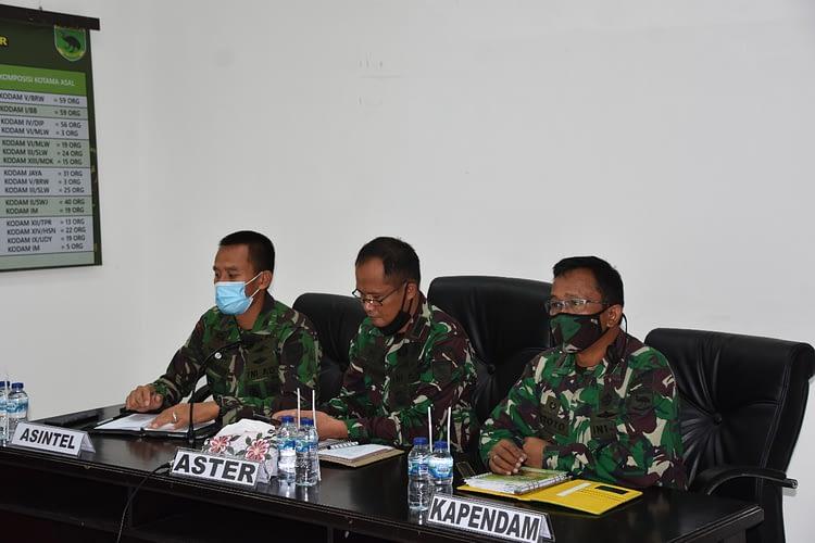 Kodam XVIII/Kasuari Ikuti Vicon Latihan Penyiapan Satgaspen Papua dan Papua Barat TA 2020