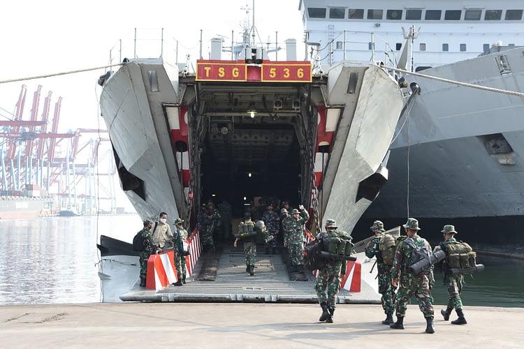 Marinir Berangkatkan Tim Aju ke Daerah Latihan