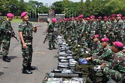 Komandan Pasmar 1 Gelar Apel Kesiapan PPRC TNI