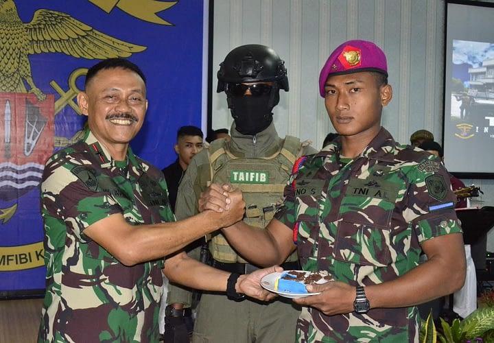 Danpasmar 1 Hadiri Peringatan Hut Ke 59 Batalyon Intai Amfibi
