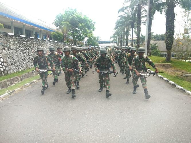 Latihan Speed March Team Binsat Harimau Putih Prajurit Yonif 8 Mar Brigif 4 Marinir/BS