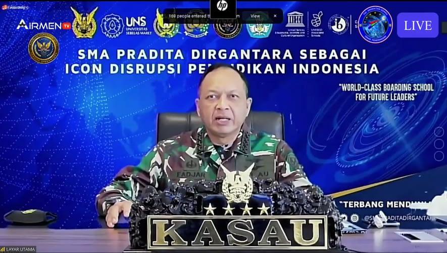 KASAU: SMA Pradita Dirgantara Siap Mencetak Putra-Putri Nasionalis yang Berkarakter Unggul di Era Disruptif.