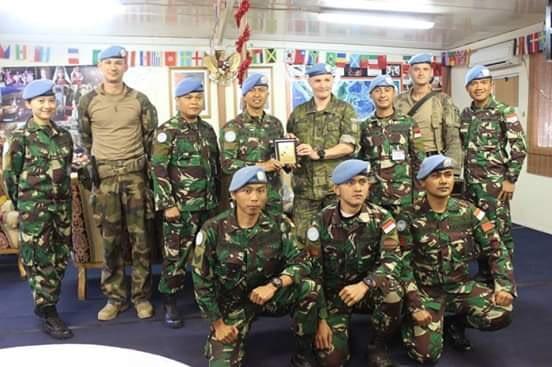 FCR Perancis beri Apresiasi Batalyon Mekanis TNI Konga XXIII-M UNIFIL di Lebanon Selatan