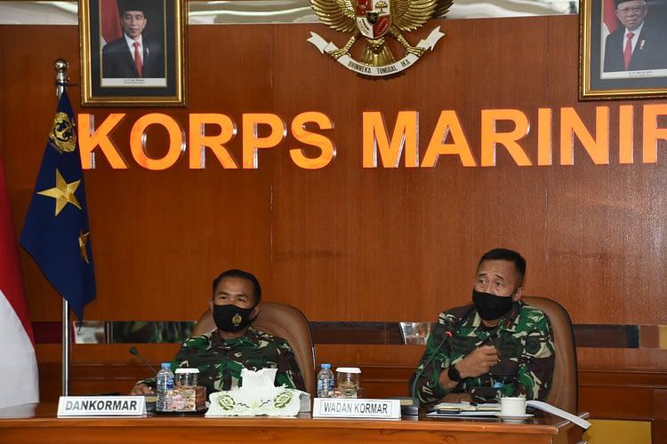 Dankormar Menerima Paparan Persiapan Serbuan Teritorial TNI Korps Marinir 2020