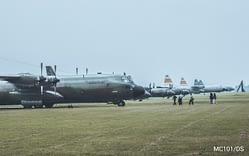 Kemeriahan hari pertama Angkasa Expo Skadron Udara 45 Jakarta.
