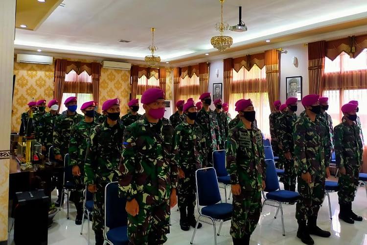 Prajurit Tidur Dalam Batalyon Arhanud 2 Marinir Peringati Hari Lahirnya Pancasila