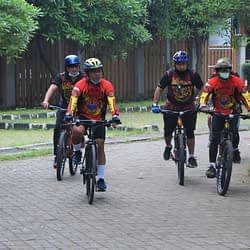 Jumat Sehat, Danpasmar 1 Berolahraga Sepeda Santai